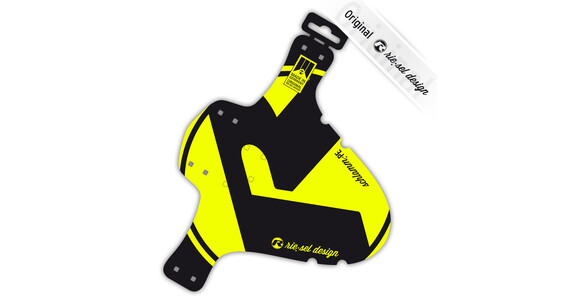 rie:sel design schlamm:PE Spatbord Bright yellow label geel/zwart
